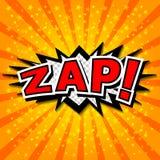 Zap! - Komisk anförandebubbla, tecknad film. Arkivbilder