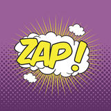 ZAP! Sformułowanie efekt dźwiękowy Zdjęcia Stock