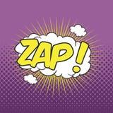 ZAP! Uttrycka solid effekt Arkivfoton
