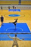 zapałczana handball kara fotografia stock