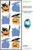 zapałczani Halloween obrazki rafują cienie ich ilustracja wektor