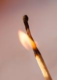 Zapałczany płomień Zdjęcie Royalty Free