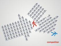 Zapaśnicza rywalizacja konkurenta pojęcie ilustracja wektor