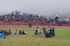 Zapaśnicza scena pochodnia festiwal zdjęcie stock