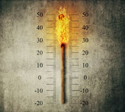 Zapałczany termometr Obraz Royalty Free