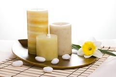 zapach świec podpalili terapię Fotografia Stock