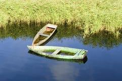 Zapadnięta łódź Obraz Stock