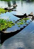 Zapadnięte łodzie Fotografia Stock