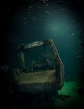 Zapadnięty statek z ryba Obraz Royalty Free