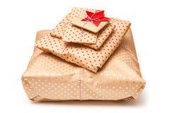 zapakować prezent Fotografia Royalty Free
