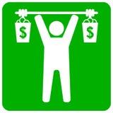 zapakuj ilustracyjni środki podnośni biznesmena zmieszanego pieniędzy 2 zdjęcie royalty free