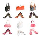 zapakuj rodzajów różnych butów Obrazy Stock