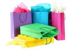 zapakujcie kolorowego zakupy Fotografia Stock