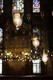 zapal światła wewnętrznych meczetu Fotografia Royalty Free