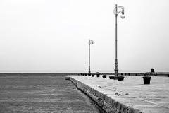 zapal lampy mola morza Zdjęcia Royalty Free