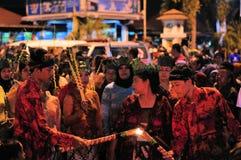 Zapalać płomień, Yogyakarta miasta festiwalu parada Obrazy Stock