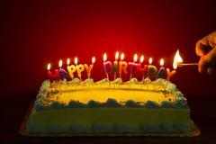 zapalić świece tortu Obraz Stock