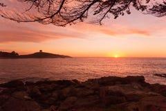 Zapallar-Sonnenuntergang Stockfotos