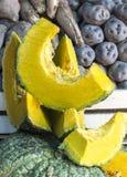 Zapallo -- Bania lub kabaczek cutted w peruvian rynku Fotografia Stock