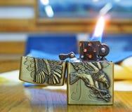 Zapalniczka z płomieniem Obraz Royalty Free