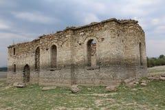 Zapalnya - den flooted kyrkan Arkivfoto