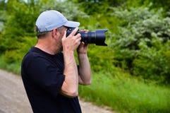 Zapalony fotograf fotografia royalty free