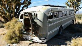 Zapamiętanie autobus w Mojave pustyni zbiory