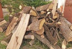 Zapas suchy drewno Obrazy Stock