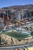 Zapata橄榄球场在拉巴斯,玻利维亚 免版税库存照片