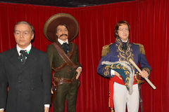 Zapata Wax museum in Madrid. Wax museum in Madrid and Spain stock image