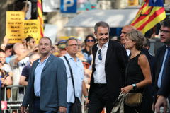 Zapatero at manifestation against terrorism Royalty Free Stock Images