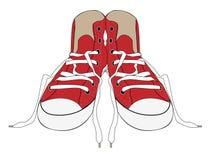 Zapatilla de deporte stock de ilustración