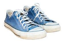 Zapatilla de deporte azul de la mezclilla fotografía de archivo libre de regalías
