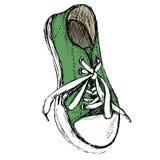 Zapatillas de deporte aisladas en el fondo blanco, Fotografía de archivo libre de regalías