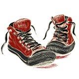 Zapatillas de deporte aisladas en el fondo blanco, Foto de archivo