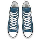 Zapatillas de deporte aisladas vector del azul de la historieta Foto de archivo