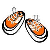 Zapatillas de deporte atadas Fotografía de archivo
