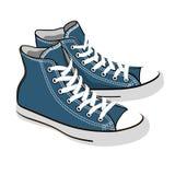 Zapatillas de deporte azules Fotografía de archivo