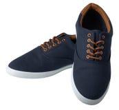 Zapatillas de deporte azules aisladas Fotografía de archivo