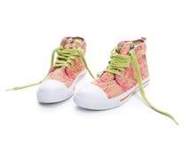 Zapatillas de deporte coloridas Imágenes de archivo libres de regalías