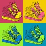 Zapatillas de deporte coloridas Imagenes de archivo