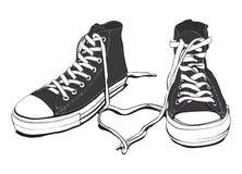 Zapatillas de deporte con el corazón encantador libre illustration