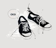 Zapatillas de deporte de los zapatos atléticos Fotografía de archivo libre de regalías