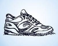 Zapatillas de deporte de lujo de moda Bosquejo del vector Foto de archivo libre de regalías