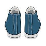 Zapatillas de deporte del azul de la historieta del vector Imagen de archivo libre de regalías