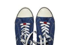 Zapatillas de deporte del dril de algodón Fotos de archivo libres de regalías