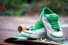 Zapatillas de deporte del patín Fotos de archivo