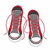 Zapatillas de deporte enrrolladas coloreadas de la moda de los gumshoes Fotografía de archivo