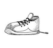 Zapatillas de deporte. estilo del bosquejo. ejemplo del vector Fotografía de archivo libre de regalías
