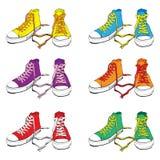 Zapatillas de deporte fijadas Fotografía de archivo